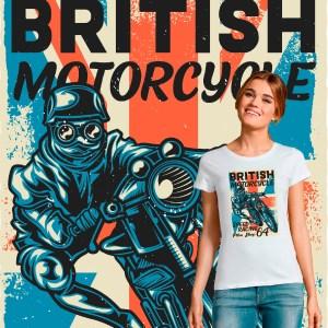 Tee-shirt femme motarde British Motorcycles