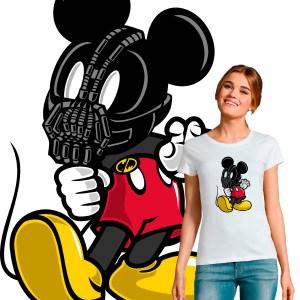 T-shirt femme crossover pop culture Mickey Bane Batman