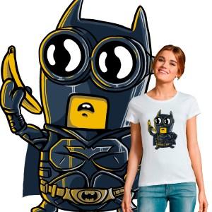 T-shirt femme pop culture crossover Minion Batman