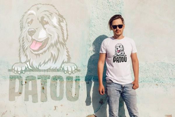 tee-shirt homme patou, chien des pyrénées, gardien de vos troupeaux, anti-ours