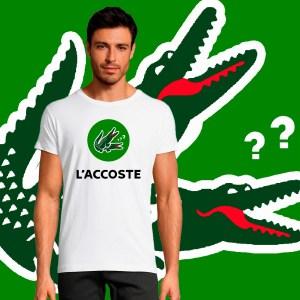 T-shirt Homme L'accoste Parodie Lacoste