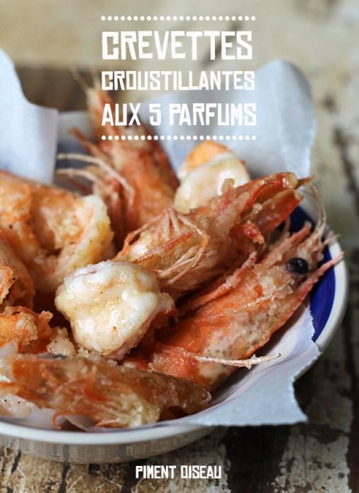crevettes croustillantes aux 5 parfums - crispy prawns with 5 spices