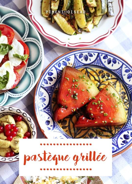 pastèque grillée-grilled watermelon