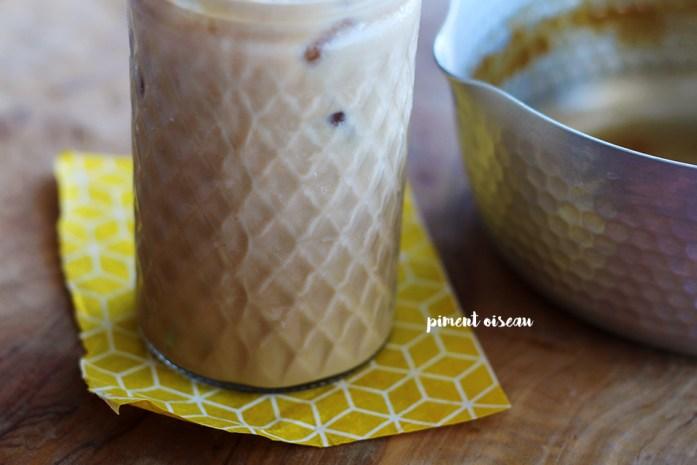 café glacé au caramel salé