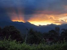 Farallones del Citará mountain range at sundawn