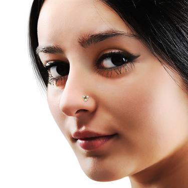 Buy Three Stone Nose Rings