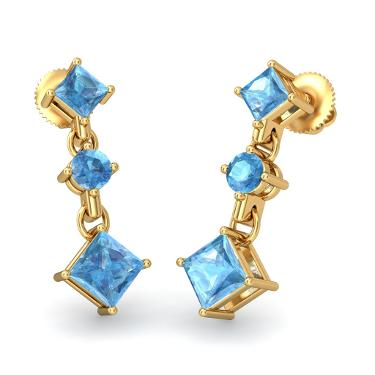 Blue Earrings for your sisters on Rakhi Festival