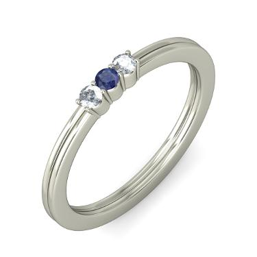 Sapphire Rings In White Gold
