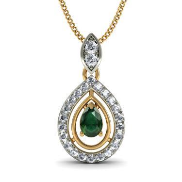 Gold White Emerald Jewellery
