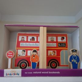 Red Bus Bookends