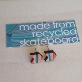 Skateboard Stud Earrings