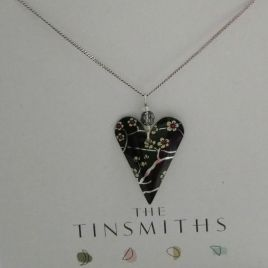Willow Slim Heart Necklace
