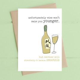Wine & Aging Birthday Card