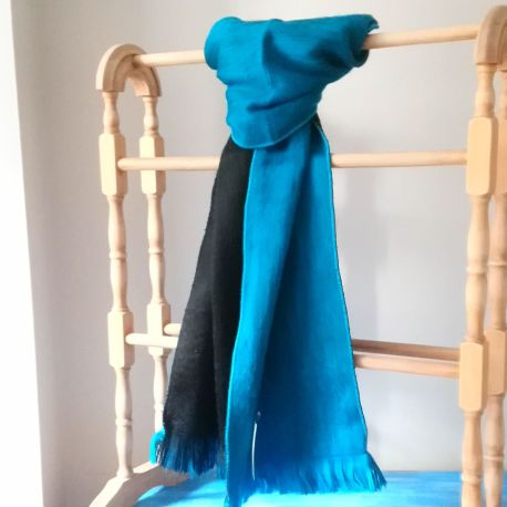 Scarf Turquoise Black