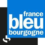 Logo de la radio France Bleu Bourgogne : carré bleu, carré noir, écriture blanche
