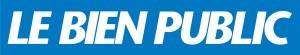 Logo du journal Le Bien Public tout en texte : blanc sur fond bleu