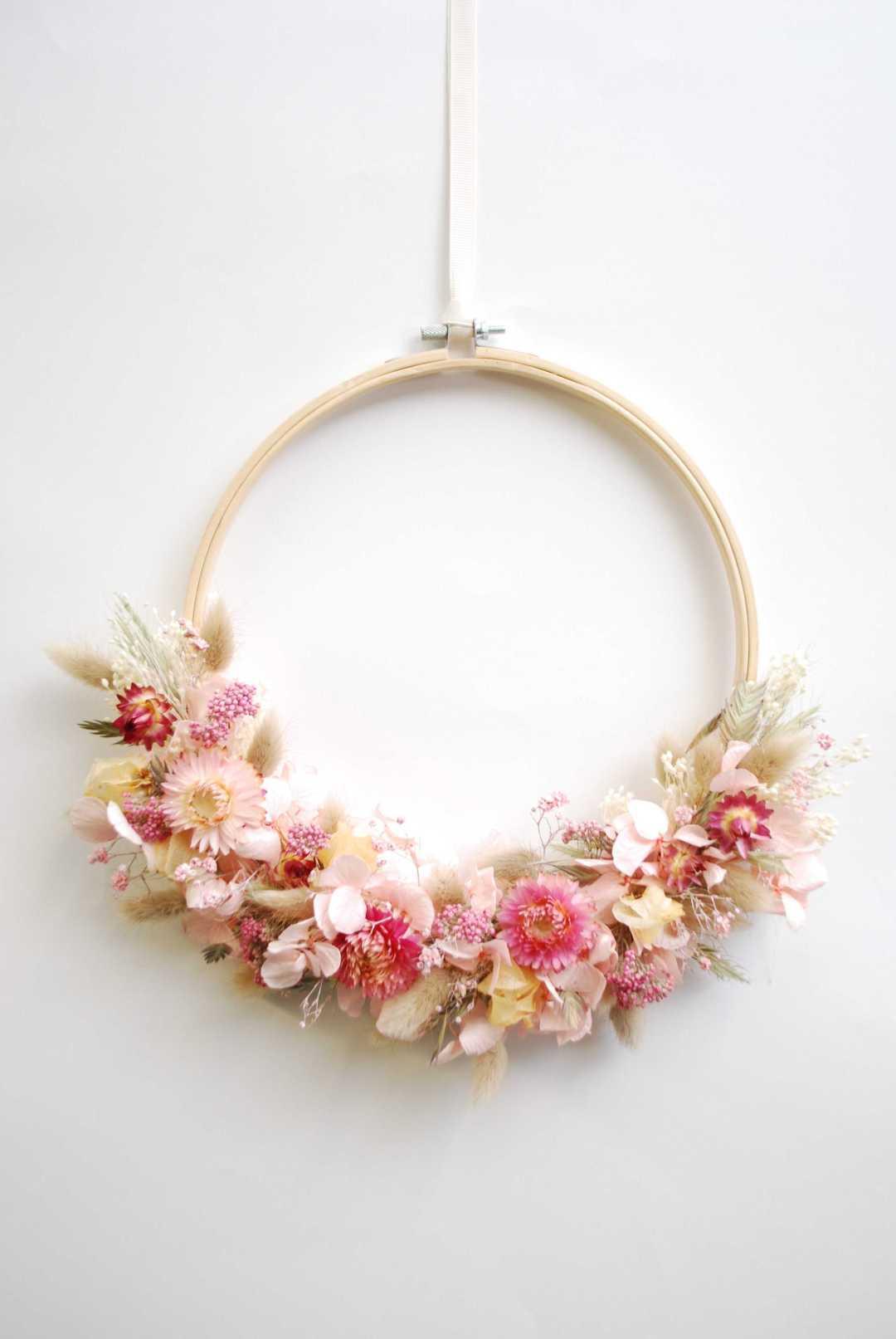 """couronne fleurie """"Peach nectar"""""""