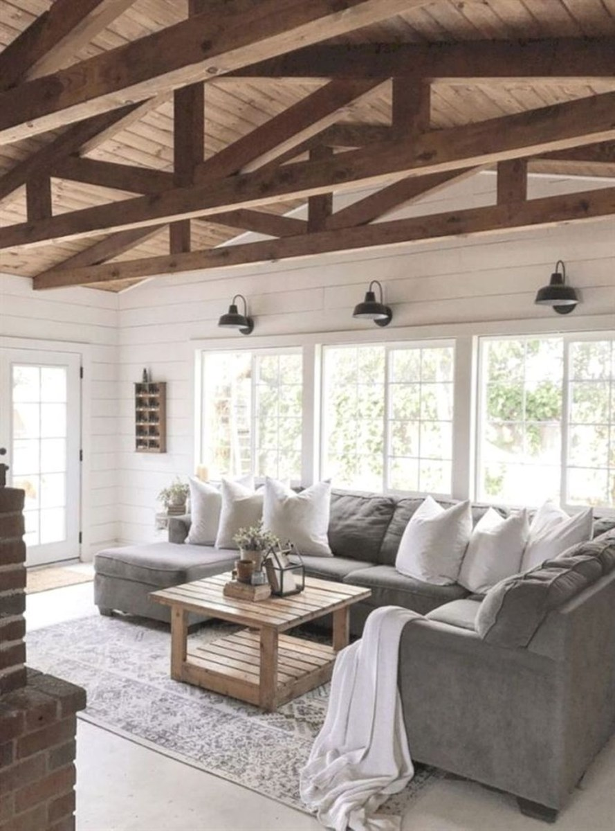 Awesome Modern Rustic Living Room Decor Ideas 03