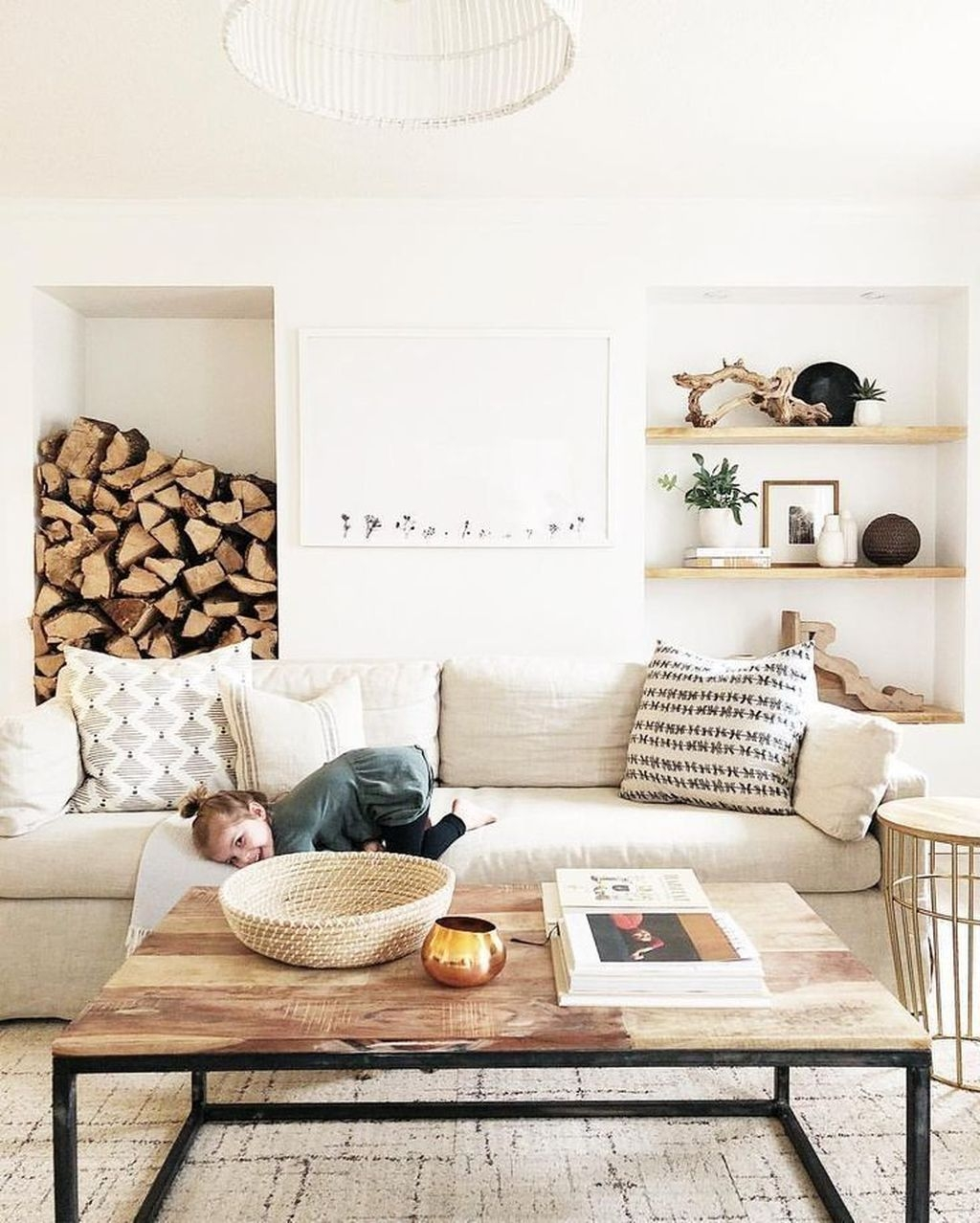 Awesome Modern Rustic Living Room Decor Ideas 21