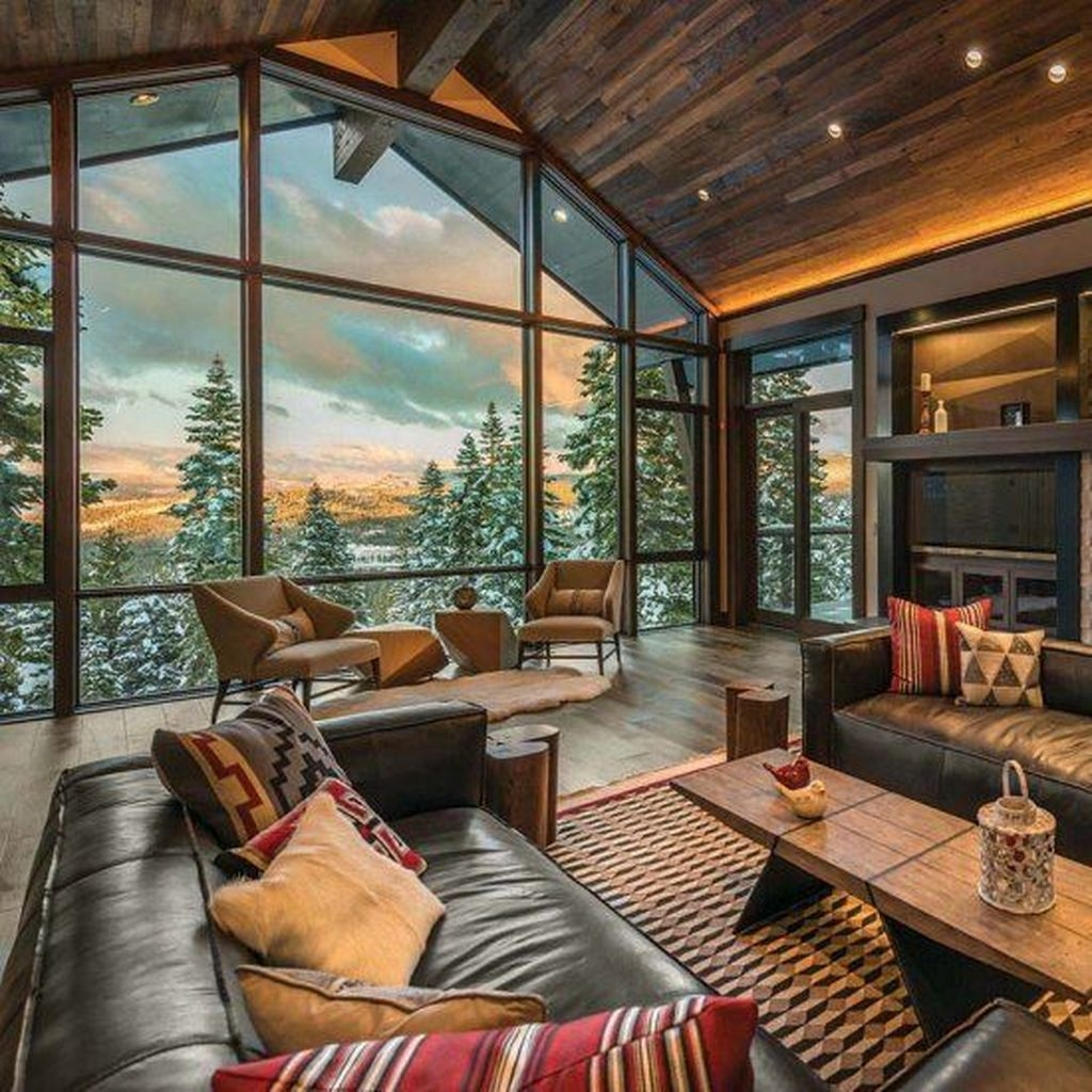 Awesome Modern Rustic Living Room Decor Ideas 38