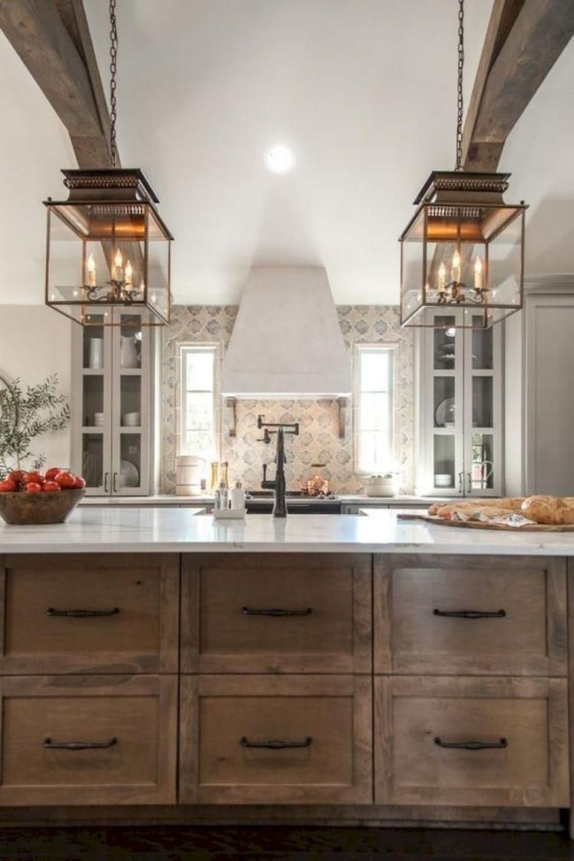 Awesome Rustic Kitchen Island Design Ideas 06