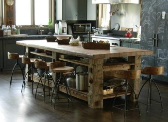 Awesome Rustic Kitchen Island Design Ideas 41