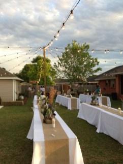 Beautiful Backyard Wedding Decor Ideas To Get A Romantic Impression 12