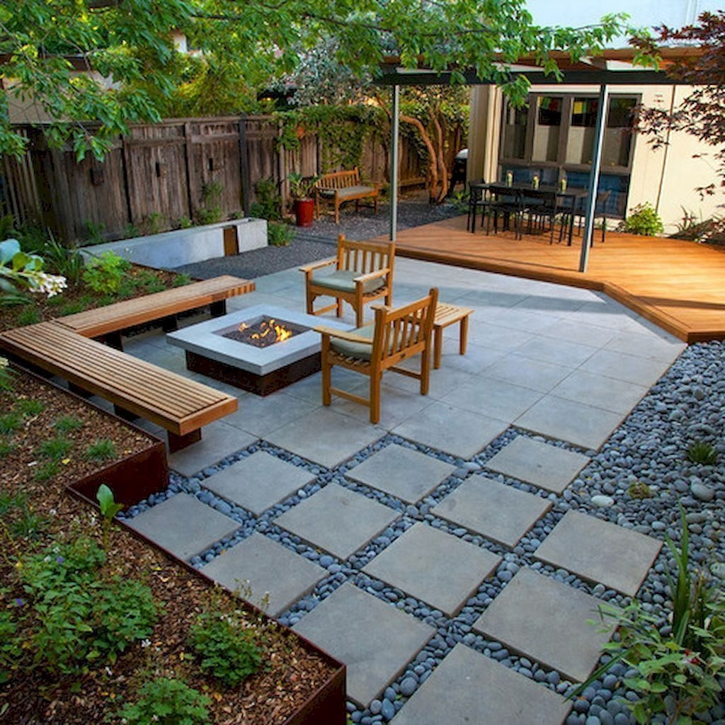 Beautiful Modern Backyard Landscaping Design Ideas 34