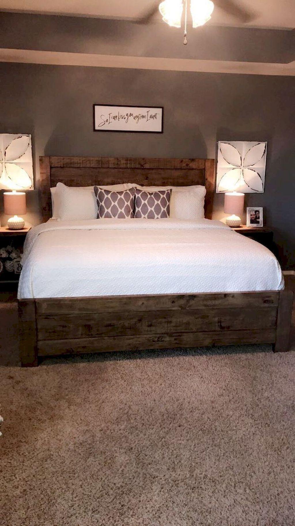 Beautiful Modern Farmhouse Master Bedroom Decoration Ideas 21