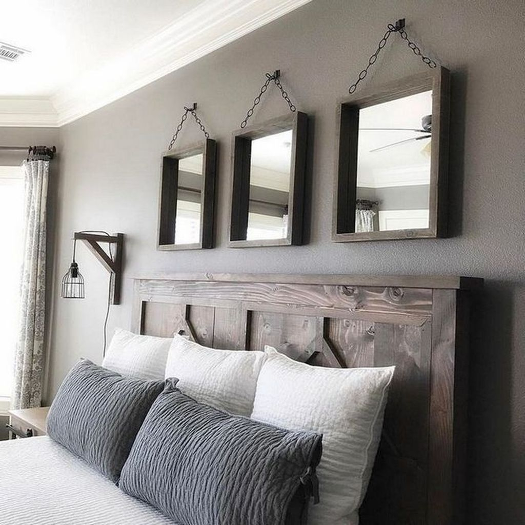 Beautiful Modern Farmhouse Master Bedroom Decoration Ideas 31