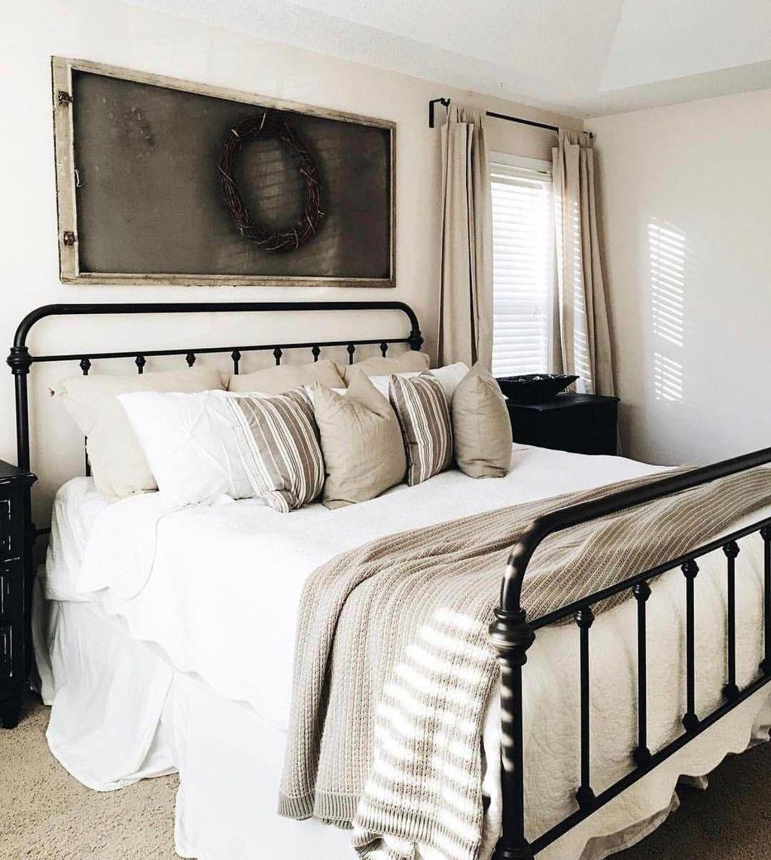 44 beautiful modern farmhouse master bedroom decoration