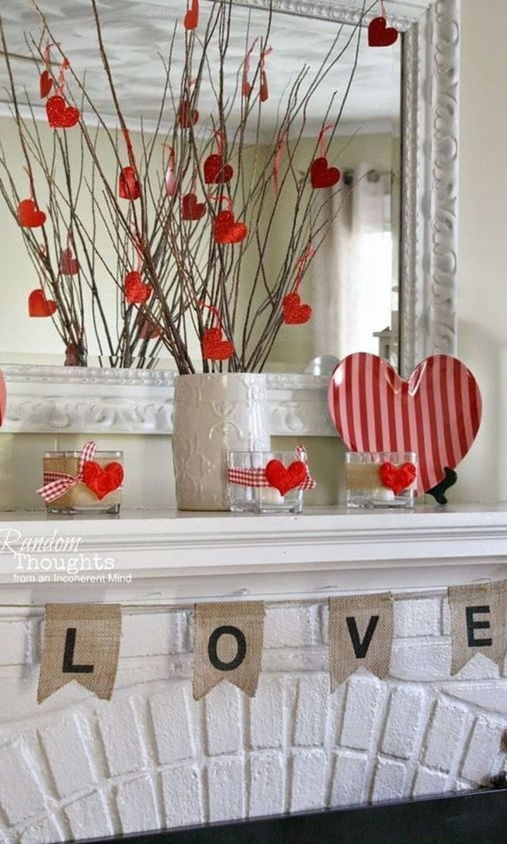 Cute Farmhouse Style Valentine Decorations 13