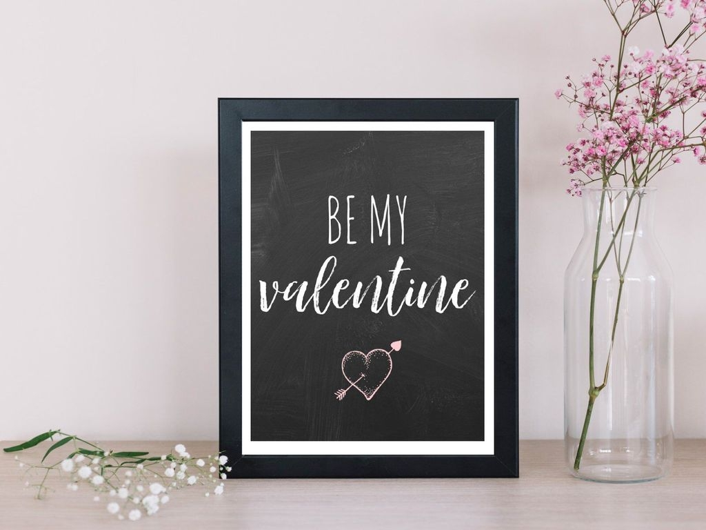 Cute Valentine Wall Art Design Ideas 03