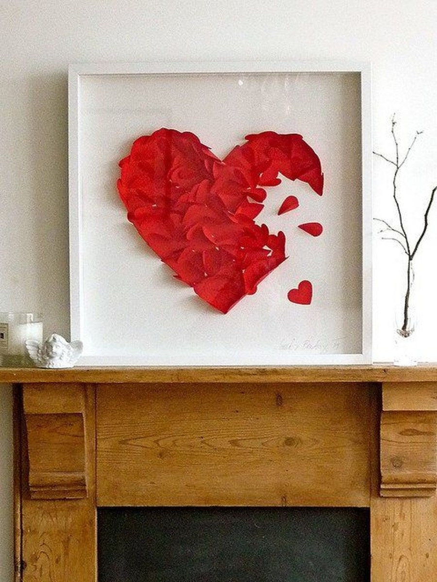 Cute Valentine Wall Art Design Ideas 07