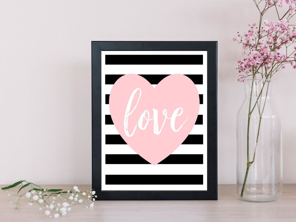Cute Valentine Wall Art Design Ideas 11