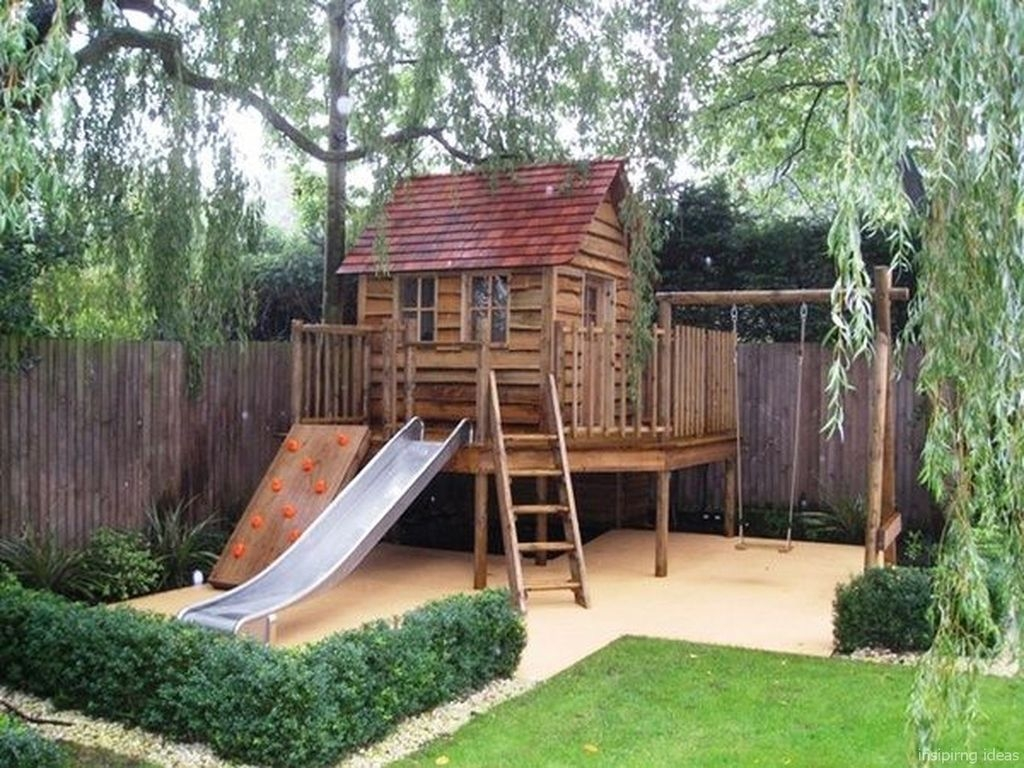 Gorgeous Backyard Playground Kids Design Ideas 39