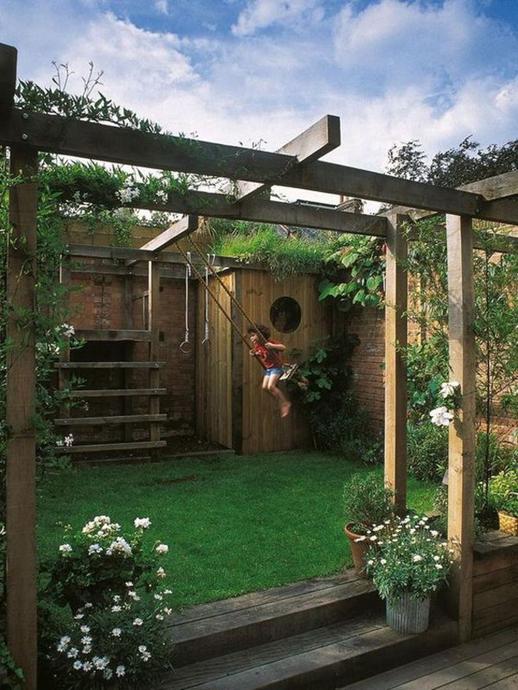 Gorgeous Backyard Playground Kids Design Ideas 40