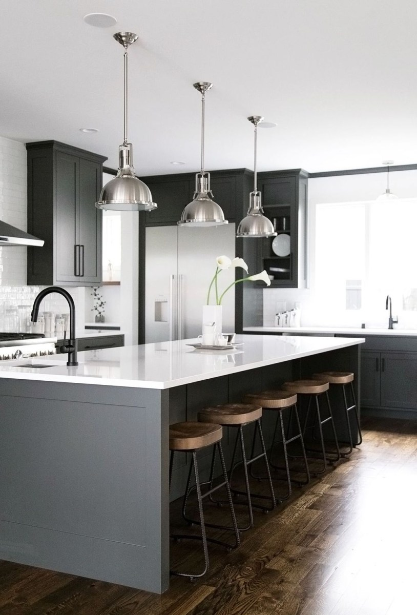 Inspiring Dark Grey Kitchen Design Ideas 18