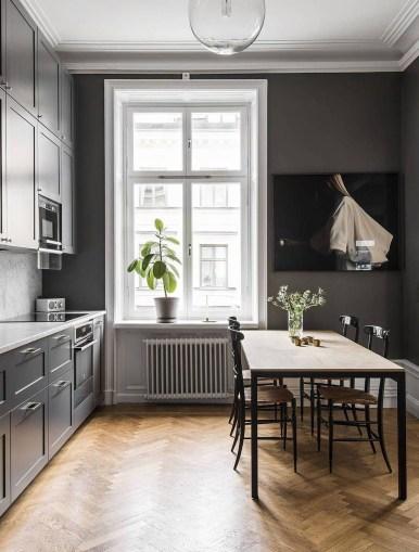 Inspiring Dark Grey Kitchen Design Ideas 22