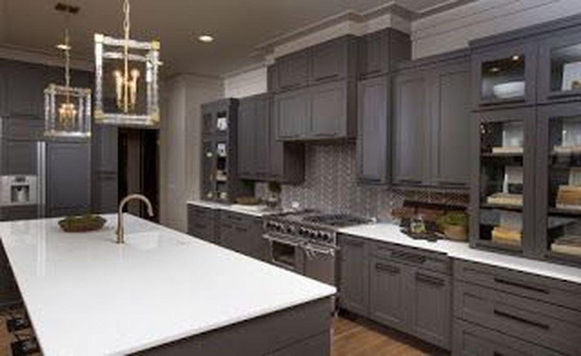 Inspiring Dark Grey Kitchen Design Ideas 26