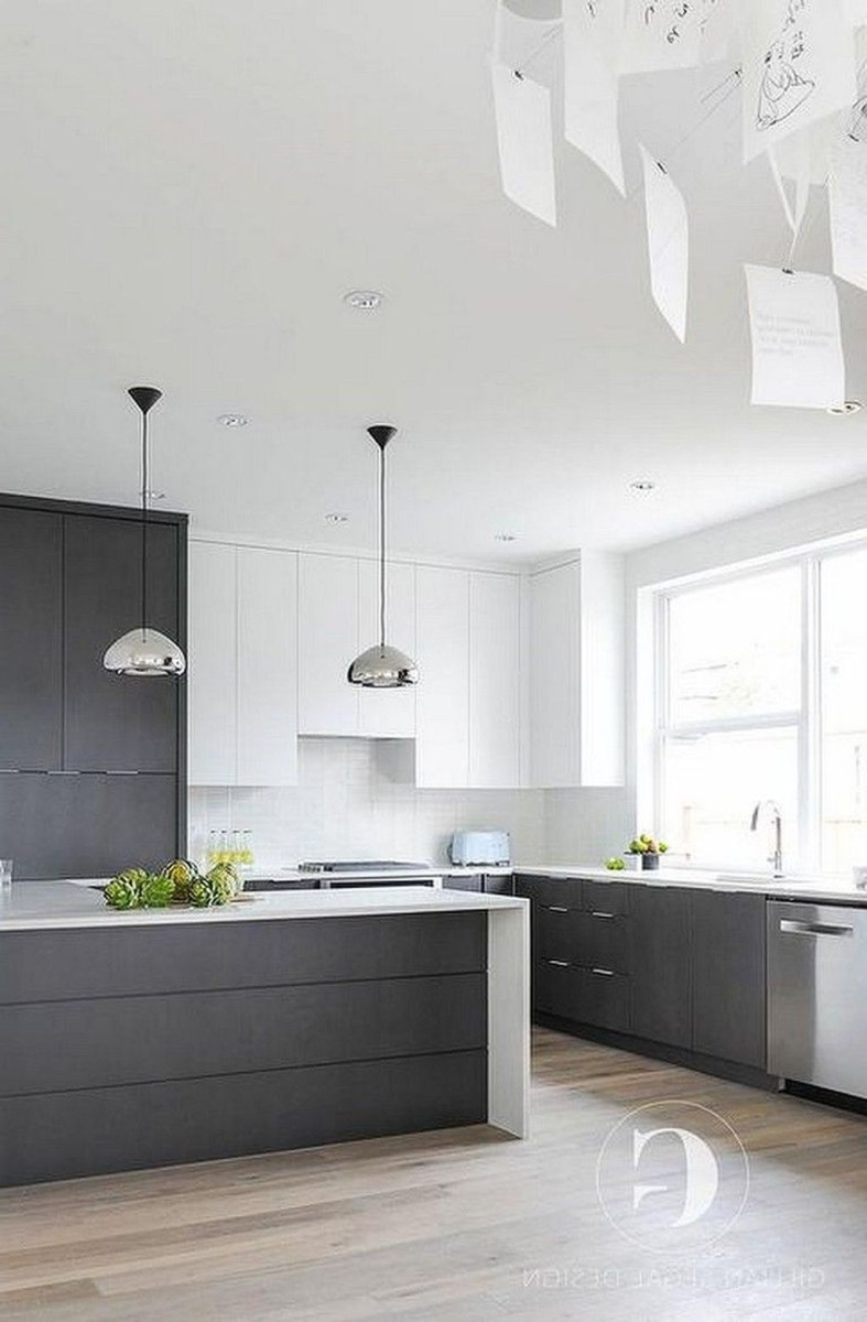 Inspiring Dark Grey Kitchen Design Ideas 33