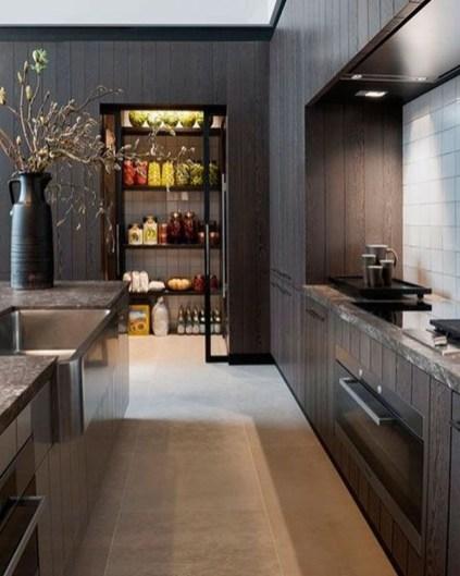 Inspiring Dark Grey Kitchen Design Ideas 36