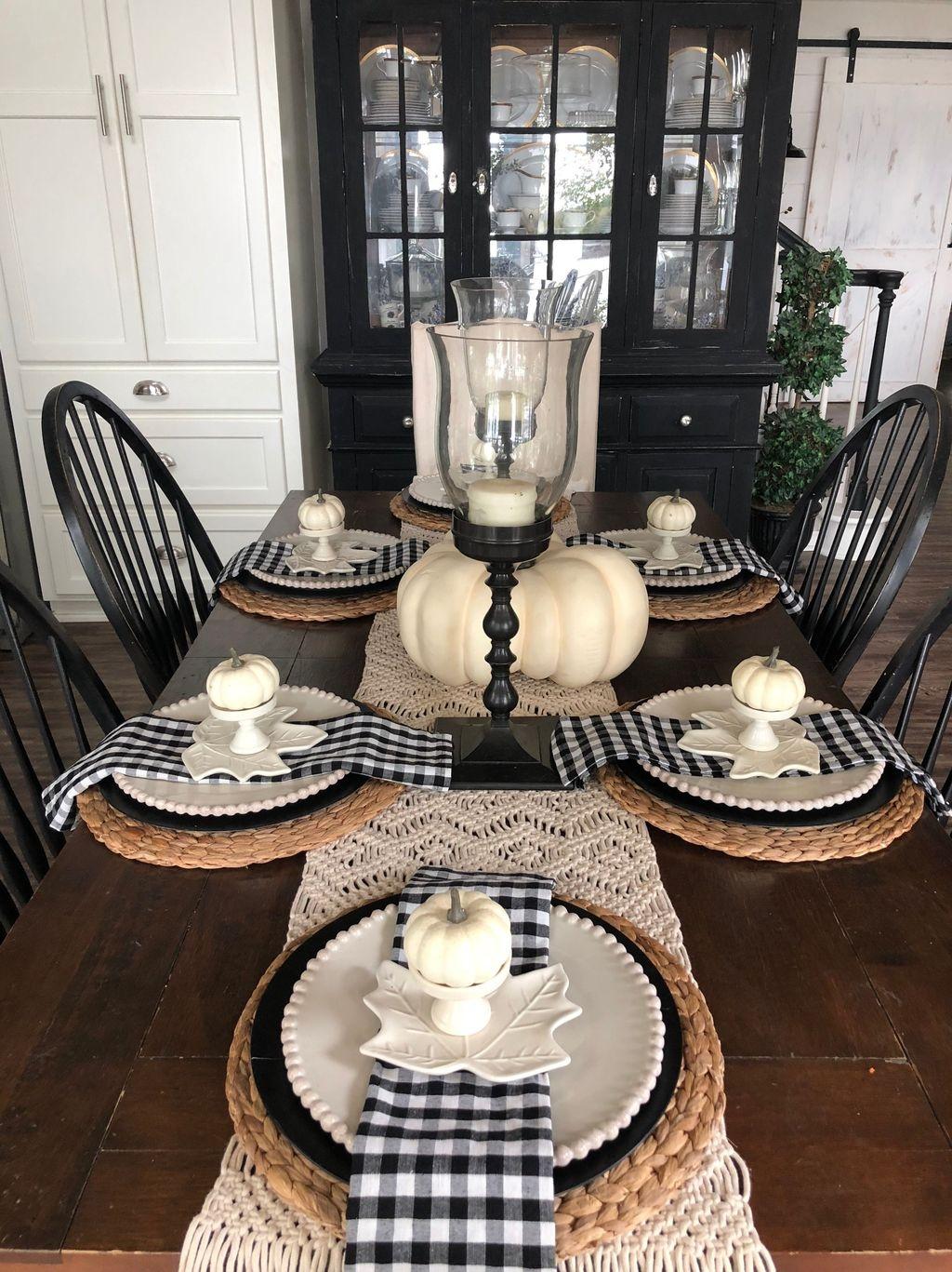Popular Farmhouse Dining Room Design Ideas Trend 2019 13