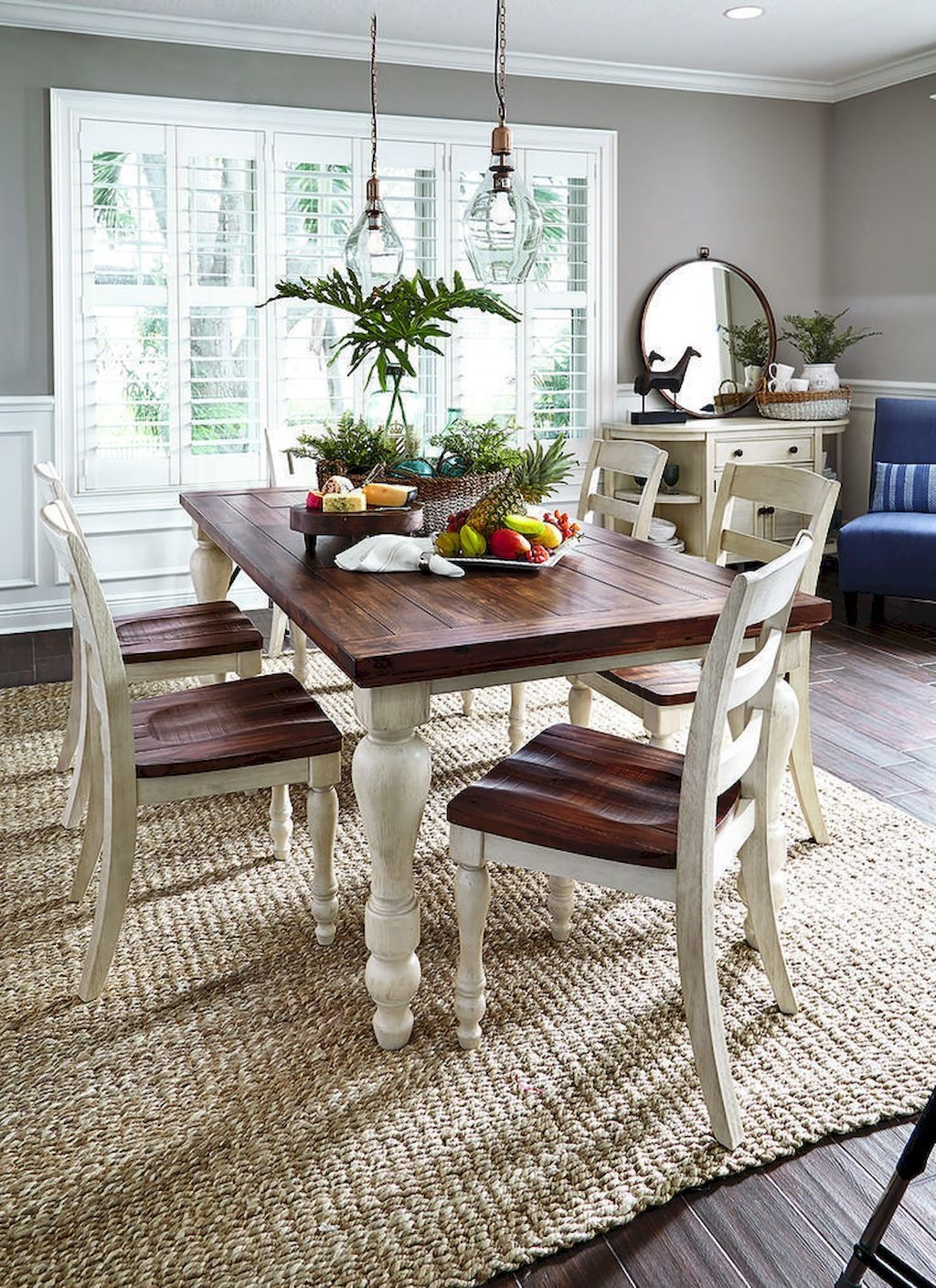 Popular Farmhouse Dining Room Design Ideas Trend 2019 14