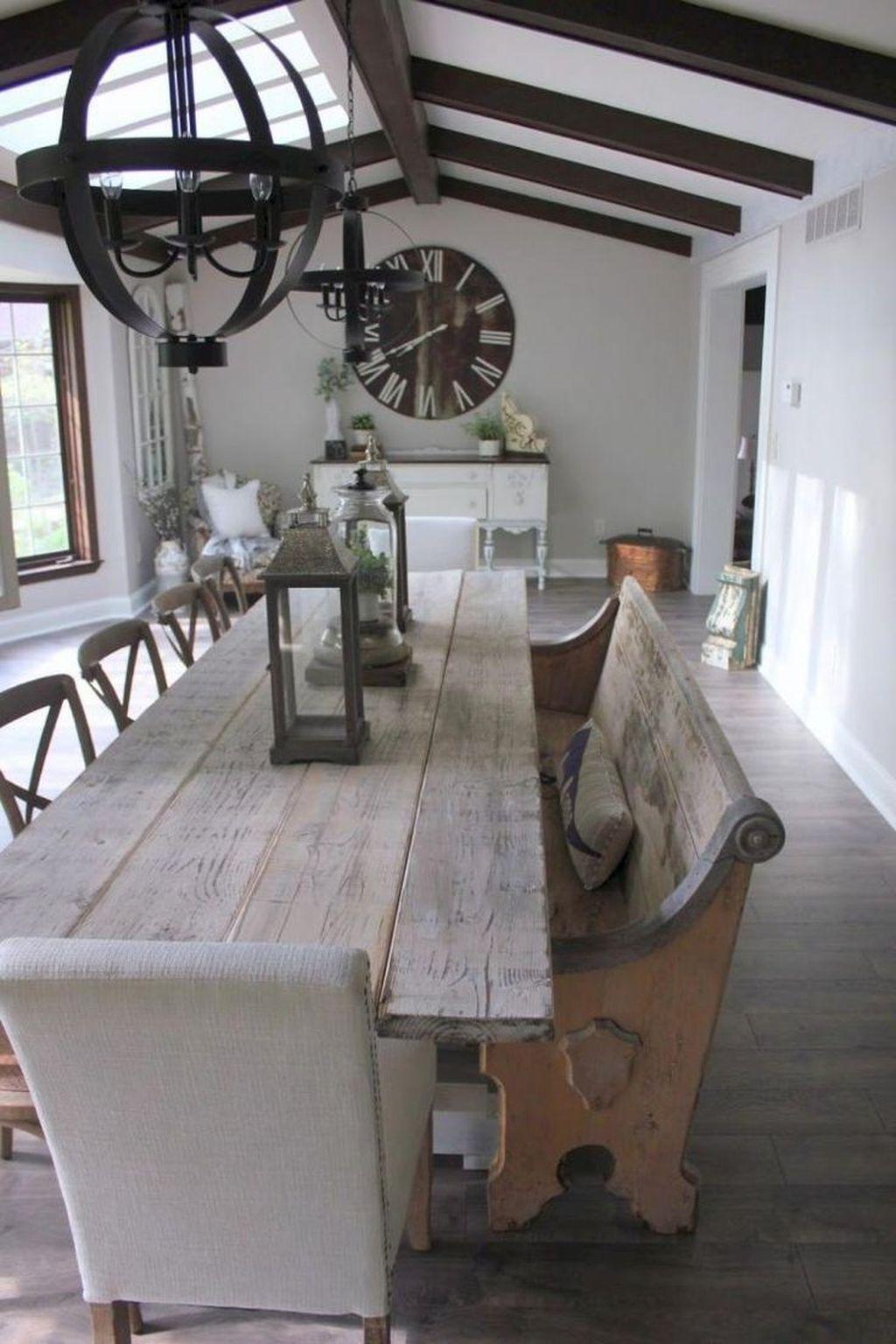 Popular Farmhouse Dining Room Design Ideas Trend 2019 18