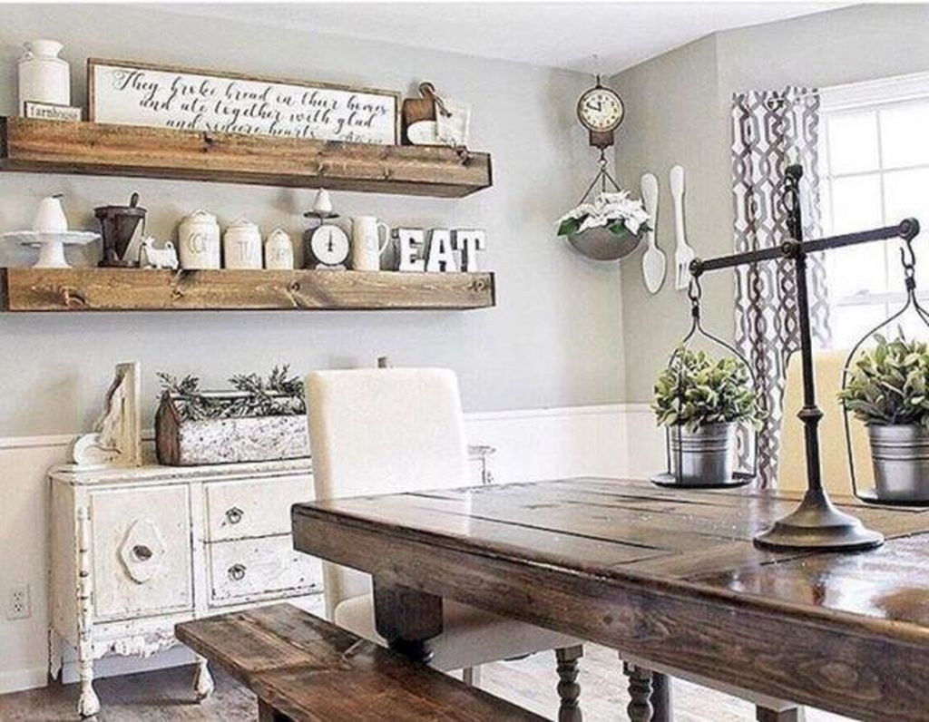 Popular Farmhouse Dining Room Design Ideas Trend 2019 29