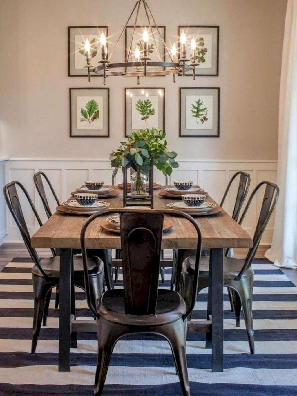 Popular Farmhouse Dining Room Design Ideas Trend 2019 30