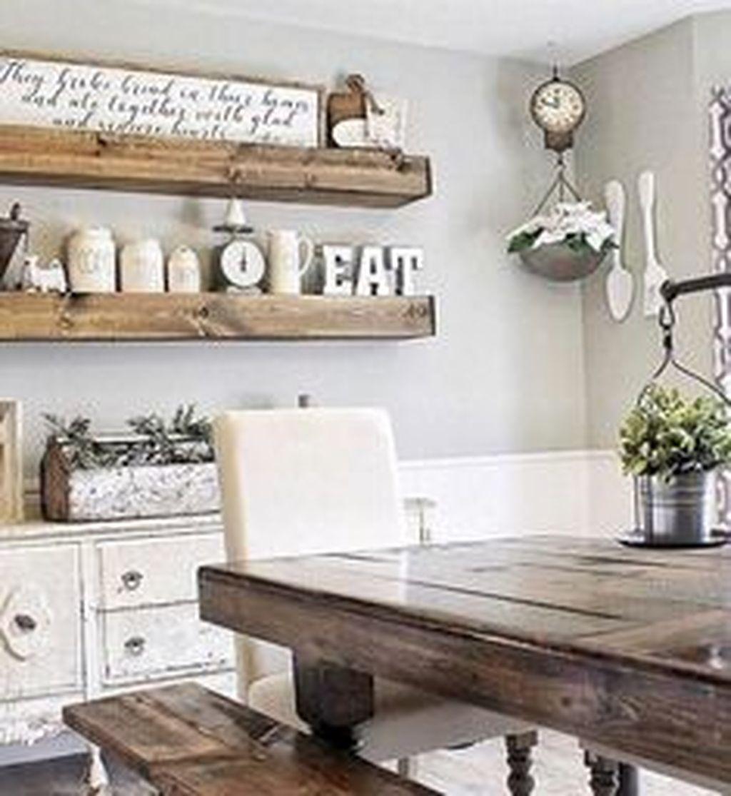 Popular Farmhouse Dining Room Design Ideas Trend 2019 39