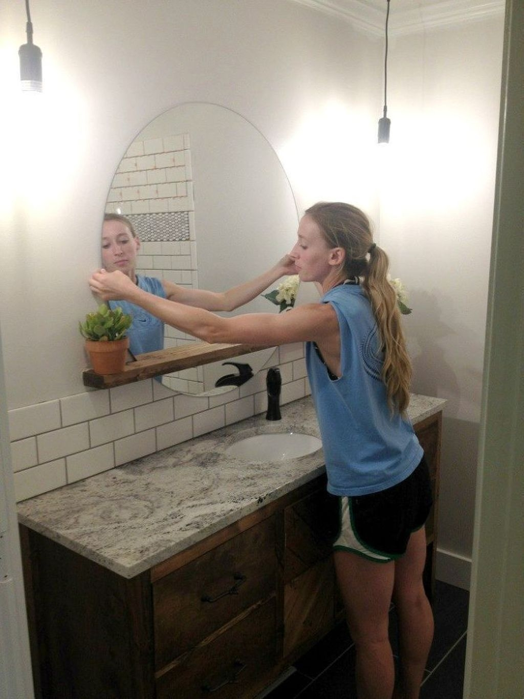 Stunning Bathroom Mirror Decor Ideas 11