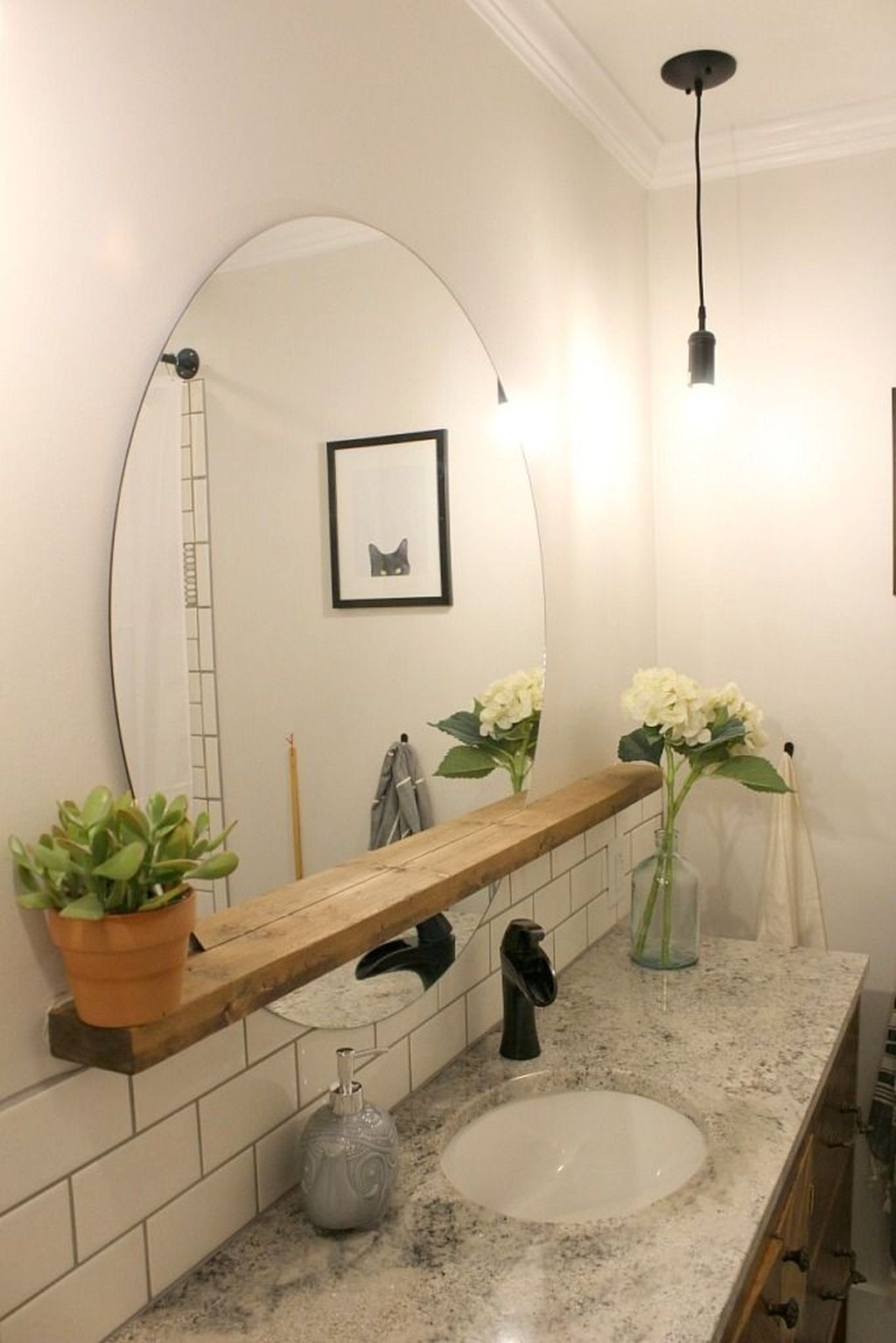Stunning Bathroom Mirror Decor Ideas 13